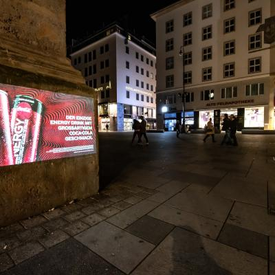 Boomerang.at - Coke - Outdoor Mobile Projektion